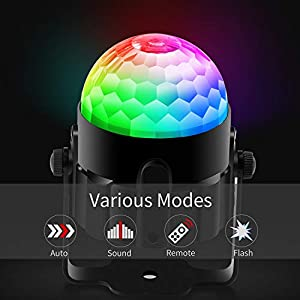 BAISUN Disco Ball Party Lights RGB Disco Lights Ocean Light Projector with Remote Control Strobe Light for Dance Parties Birthday DJ Wedding Show Kids Room (2 pack) (Color: Multicolor)