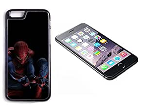iPhone 6 Plus Black Plastic Hard Case with High Gloss Printed Insert Spiderman