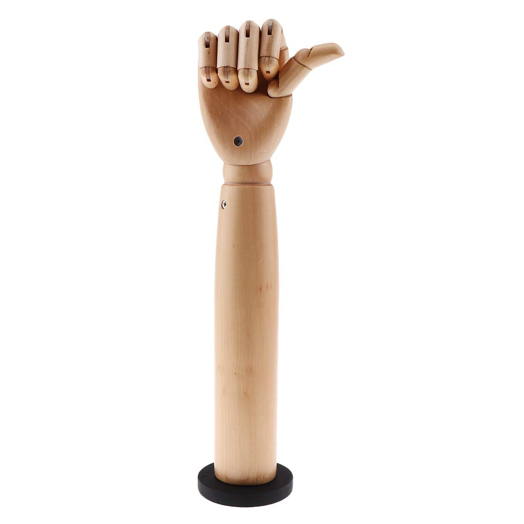 CUTICATE Wooden Sectioned Flexible Posable Articulating Hand Right Mannequin Manikin Hand for Drawing Sketch DIY Craft Painting Supplies