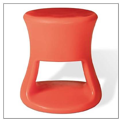 Merveilleux OFFI Co. Tiki Stool, Finish U003d Orange