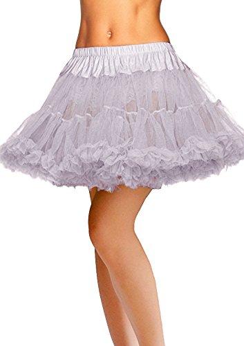 Dresstells® La Enagua Lujosa de Falda de Capa de Tul Grey