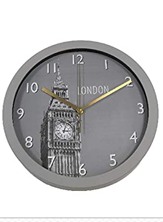 Your-World-Shop Reloj de Pared Redondo,Reloj Estilo Moderno Silencioso, Relojes