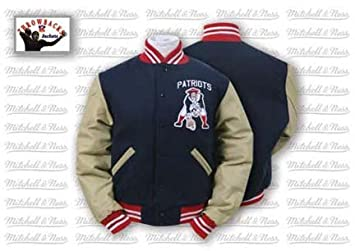 Jacket Patriots Amazon Wool Jackets Authentic And Canada Mitchell - Boston From Ness 1960