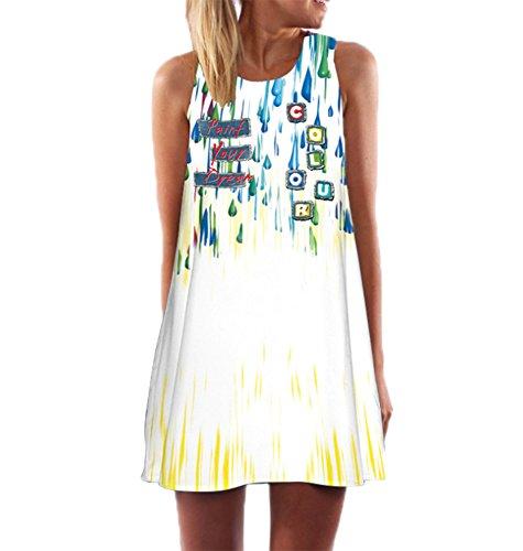 Donna A Manica Annodare Da Stampa12 Vintage T Lunga shirt Keephen qxE6wntWA