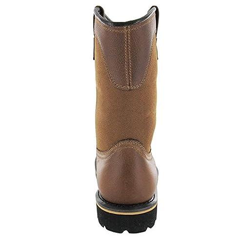 54e8586404b Brahma Men's Bay Steel Toe Pull On Oil Resistance Work Boots, Wide ...