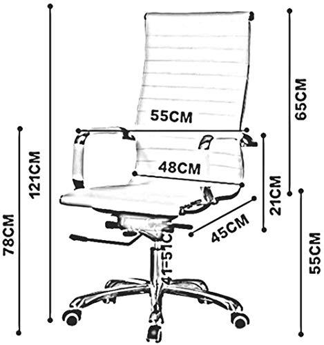 Barstolar Xiuyun kontorsstol spelstol svängbar stol, kontorsmöbler datorstol hushåll svängbar lyft svängbar stol chef stol svängbar stol (färg: svart)