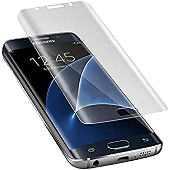 WANGCL Galaxy S7 Edge Screen Protector Full Screen Coverage 3D Pet Screen Protector Film Case Friendly for Samsung Galaxy S7 Edge Clear - Clear - 2 Piece