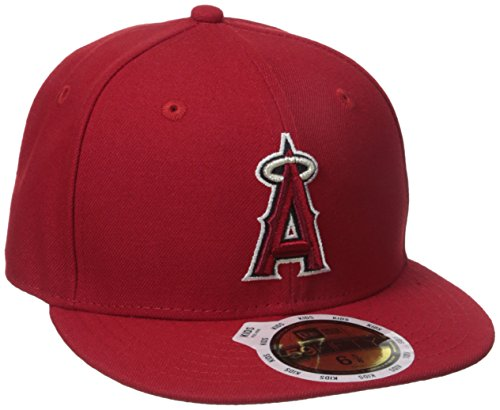 New Era Boys' 59FIFTY Authentic On-Field-Los Angles Angels of Anaheim Youth, Scarlet, 6 5/8