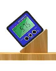 Yinuoday - Transportador de ángulos impermeable con medidor de inclinación digital y base magnética, azul, 1