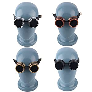 Cyber Goggles Steampunk Vintage Retro Welding Punk Gothic Sunglasses Black