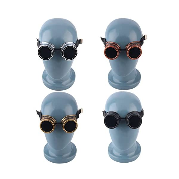 Cyber Goggles Steampunk Vintage Retro Welding Punk Gothic Sunglasses Black 3
