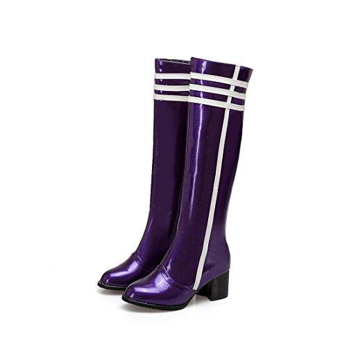 Tubo DEDE Sandalette purple Tacones Altos Botas de Altas Botas Botas Colores Altas Moda Altos de Mujer Botas de adHqdTrwxF