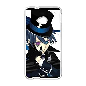 HTC One M7 White Black Butler phone case cell phone cases&Gift Holiday&Christmas Gifts NVFL7N8824388