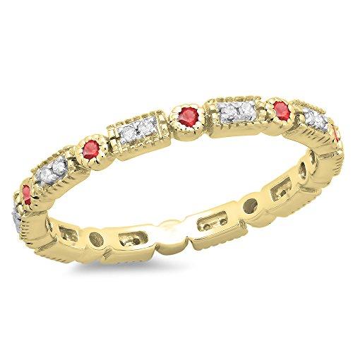 Vintage 14k Gold Ruby - 8