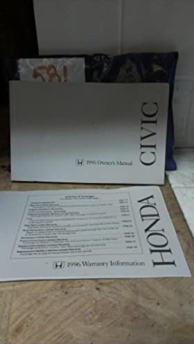 1996 honda civic coupe owners manual honda amazon com books rh amazon com honda civic 1996 owners manual download 1996 honda civic lx owners manual