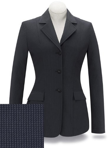 RJ Classics Ladies Diamond Collection Saratoga Show Coat Black Stripe (10)