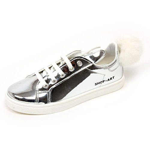 Scarpa Bimba Sneaker Shop Art Shoe Kids Argento C7036 Kid Pon nqOUCwxn