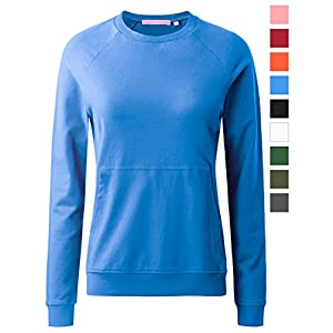 Regna X Women's Long Sleeve Crewneck Cotton Pullover Hooded Sweatshirts For Women