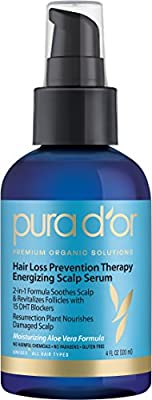 PURA D'OR Hair Loss Prevention Therapy Energizing Scalp Serum, 4 Fluid Ounce