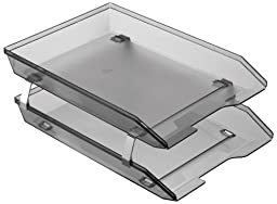 Acrimet Facility Double Letter Tray Front Loading Design (Smoke)