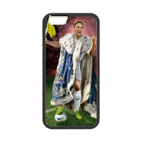 Artswow Franck Ribery King Lion Custom Plastic TPU Cell Phone Case for iPhone 6 4.7 Inch