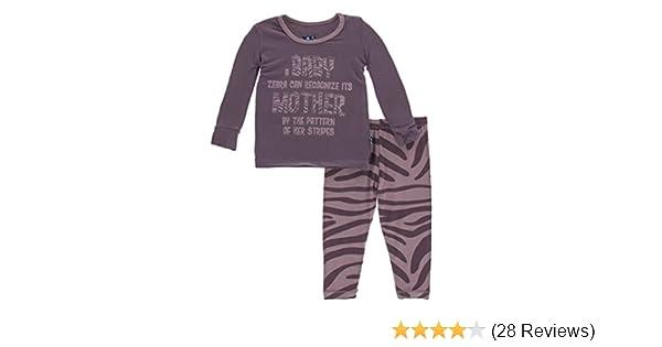 a2ea4a1bfe KicKee Pants Print Long Sleeve Pajama Set at Amazon Women s Clothing store