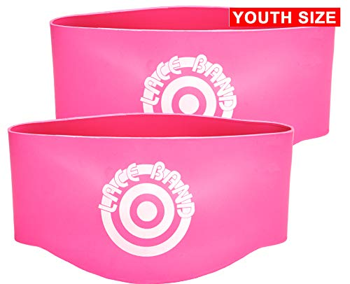 Unique Sports Youth Size Lace Bands Soccer Cleat Lace Cover and Lace Protector - Neon Pink