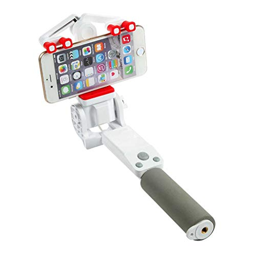 Fewear 360° Rotating RC Selfie Stick, Extendable Smart Cam Anti-Shake Monopod for iPhone X/iPhone 8/8 Plus/iPhone 7/7 Plus/iPhone 6 Plus, Galaxy S9/S9 Plus/S8/S8 Plus/S7/Note 8 (C) (Rod Photo A Mirror)