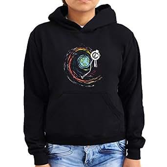 Universe space turntable disc Women Hoodie