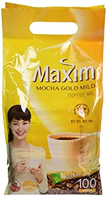 Maxim Mocha Gold Korean Instant Coffee - 100pks by Dongsuh