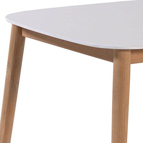 Amazon.de: Tisch Teak und duranite® weiß 213 x 100 cm Kimito
