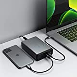 Satechi 108W Pro USB-C PD Desktop Charger - 2 USB-C PD & 2 USB-A Ports - Compatible with 2019 MacBook Pro, 2020/2018 MacBook Air, 2020/2018 iPad Pro, iPhone 11 Pro Max/11 Pro/11