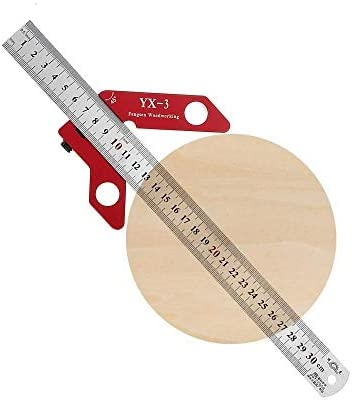 un known Woodworking Magnetic Center Scriber Finder 45 90 Degrees Angle Line Caliber Ruler Metric and Inch Wood Measuring Scribe Tool Accessory Removable Replacement
