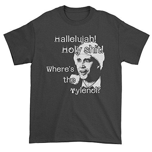 FerociTees Mens Christmas Vacation Clark Hallelujah Holy Sh-t T-Shirt Medium Black