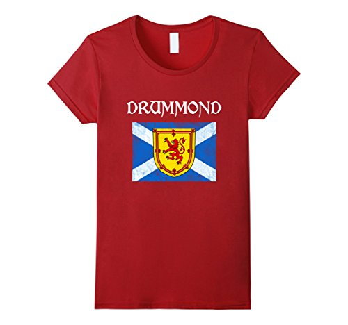 Womens Drummond Scottish Clan T Shirt Coat Arms Lion Flag XL (Drummond Clan Shop)