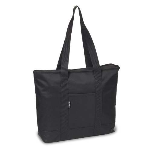 Everest Luggage Shopping Tote, Black, Black, One Size ()