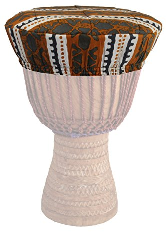 Djembe Drum Head Cover - Assorted African Cloth Designs - 14.5