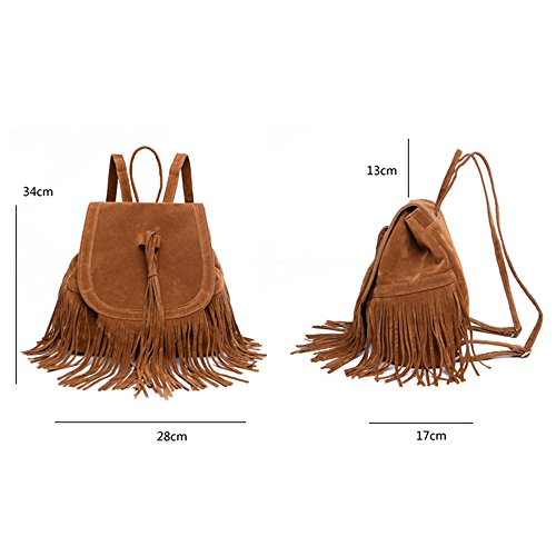 LUI SUI- Valentine's Day Gift Women's Fringed Backpack Tassel Shoulder Bag by LUI SUI (Image #5)