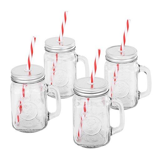 Mason Glass Drinking Jar Set