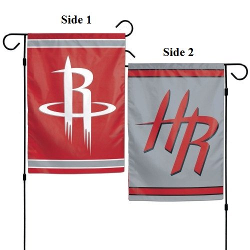 WinCraft NBA Houston Rockets 12x18 Garden Style 2 Sided Flag, One Size, Team Color (Houston Garden Store)
