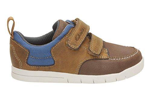 Clarks Startrite Crazy Jay Jungen Tan Leder Erste Schuhe, Braun - Hautfarben - Größe: 38 EU