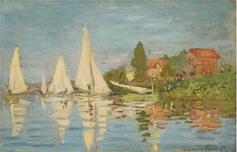 Claude Monet Regatta At Argenteuil - Oil Painting 'The Regatta At Argenteuil 1872 By Claude Monet', 16 x 25 inch / 41 x 63 cm , on High Definition HD canvas prints is for Gifts And Bath Room, Bed Room And Gym Decoration, HD