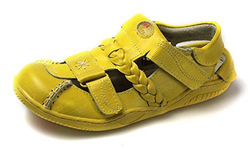 TMA Leder Damen Sommer Schuhe Sandalen 1335 Gelb