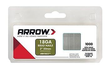 Arrow Fastener BN1832CS 2-Inch Brad Nails, 18-Gauge