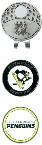 (Team Golf NHL Pittsburgh Penguins Golf Cap Clip with 2 Removable Double-Sided Enamel Magnetic Ball Markers, Attaches Easily to Hats)