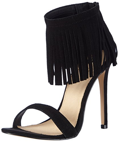 La Strada Black Cow Suede Sandal - Sandalias Mujer Negro