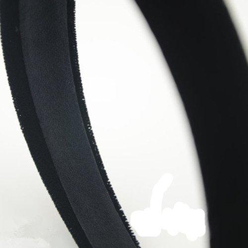 Damen Alice Band 2,5cm-breit Samt Bedeckt Stirnb/änder Mode flach schwarzem Satin Haarband Haarreif