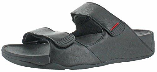 FitFlop Mens Gogh Slide (Adjustable) Sandal All Black Size 12