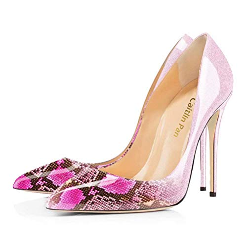 Size Caitlin On Formal Donna Shoes Pumps 45 Pink Scarpe Heel Stiletto Pointed Dress Col Pan Snake 35 Eu Tacco Toe High Slip axrO5qawX