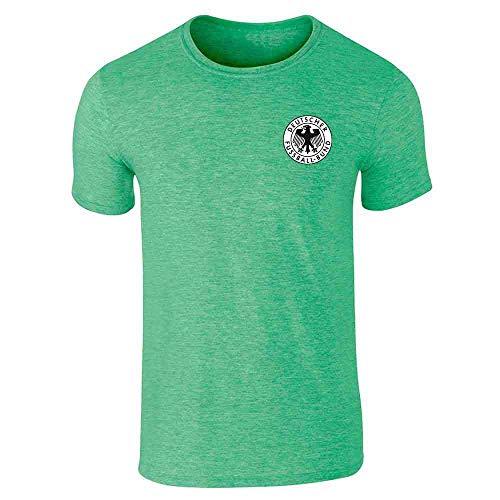 Germany Soccer Futbol Retro Vintage National Team Heather Irish Green M Short Sleeve T-Shirt